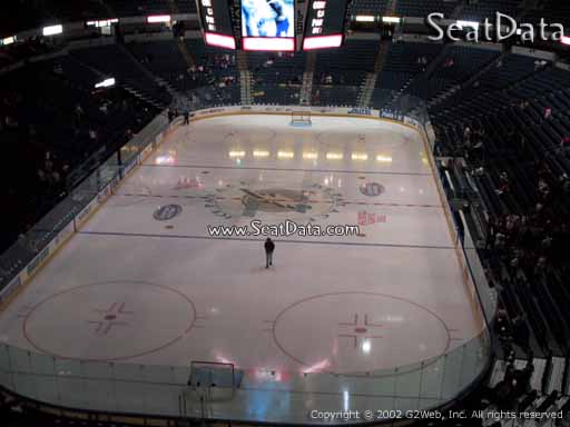 Seat view from section 208 at Amalie Arena, home of the Tampa Bay Lightning