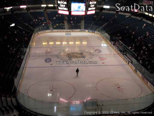 Seat view from section 209 at Amalie Arena, home of the Tampa Bay Lightning