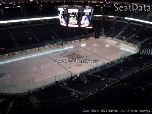 Seat view from section 304 at Amalie Arena, home of the Tampa Bay Lightning