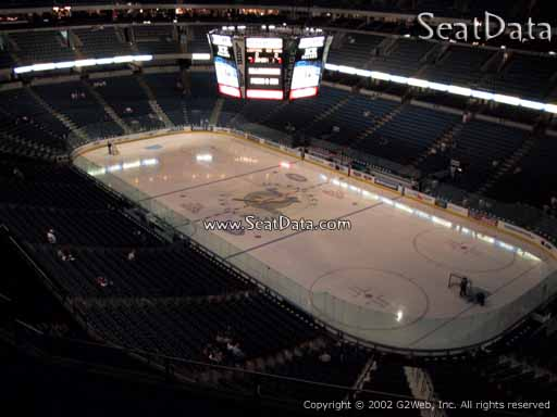 Seat view from section 312 at Amalie Arena, home of the Tampa Bay Lightning