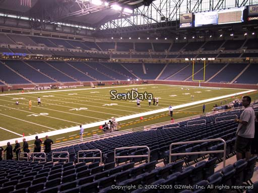 Seat view from section 101 at Ford Field, home of the Detroit Lions