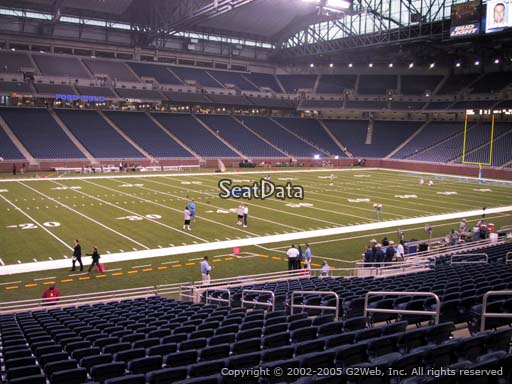 Seat view from section 103 at Ford Field, home of the Detroit Lions