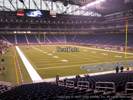 Seat view from section 114 at Ford Field, home of the Detroit Lions