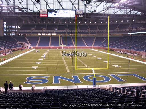 Seat view from section 116 at Ford Field, home of the Detroit Lions