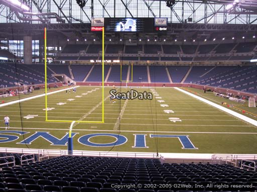 Seat view from section 117 at Ford Field, home of the Detroit Lions