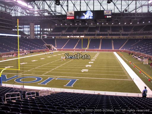 Seat view from section 118 at Ford Field, home of the Detroit Lions