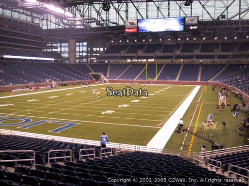 Seat view from section 119 at Ford Field, home of the Detroit Lions