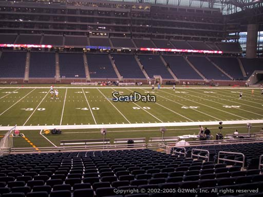 Seat view from section 126 at Ford Field, home of the Detroit Lions