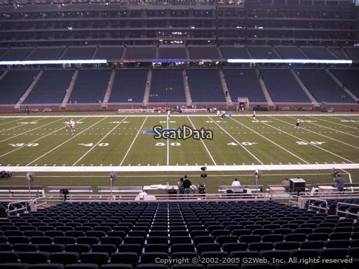 Seat view from section 127 at Ford Field, home of the Detroit Lions