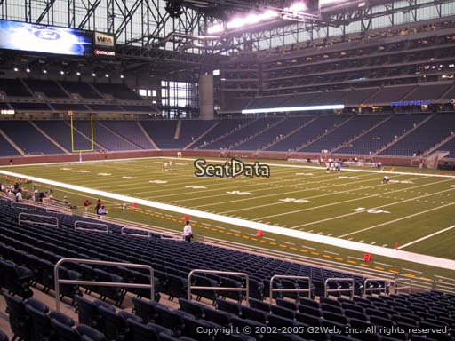 Seat view from section 132 at Ford Field, home of the Detroit Lions
