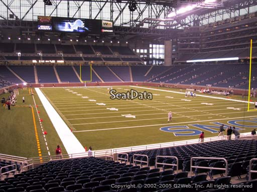 Seat view from section 135 at Ford Field, home of the Detroit Lions