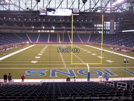 Seat view from section 137 at Ford Field, home of the Detroit Lions