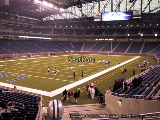 Seat view from section 141 at Ford Field, home of the Detroit Lions