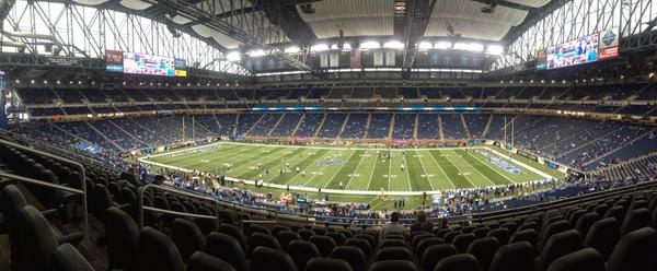 Seat view from section 209 at Ford Field, home of the Detroit Lions