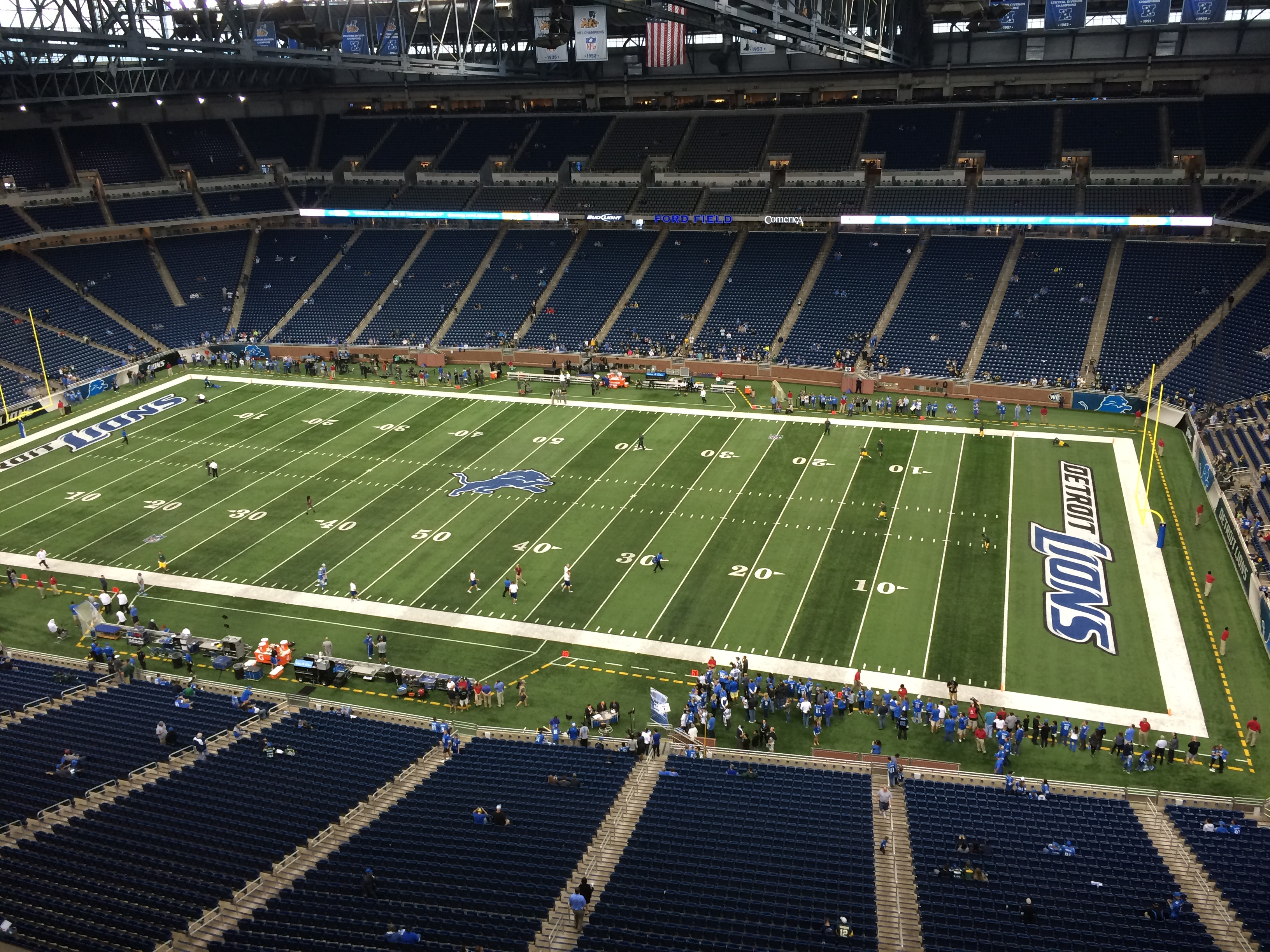 Seat view from section 210 at Ford Field, home of the Detroit Lions