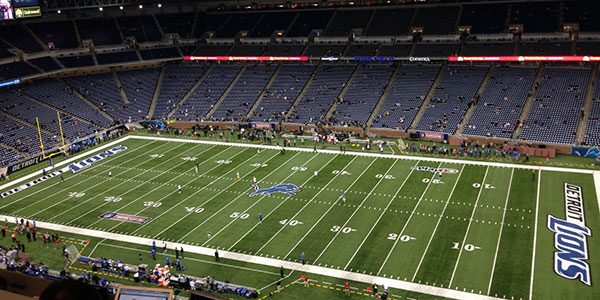 Seat view from section 212 at Ford Field, home of the Detroit Lions