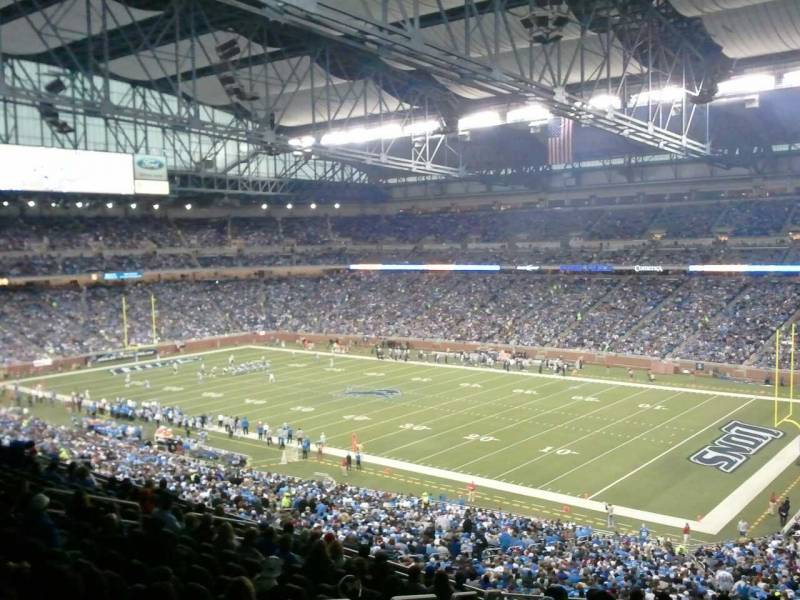 Seat view from section 214 at Ford Field, home of the Detroit Lions