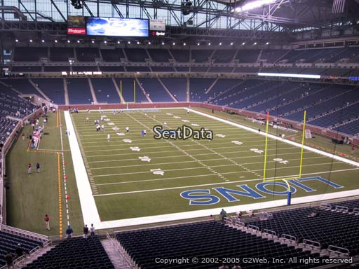 Seat view from section 216 at Ford Field, home of the Detroit Lions