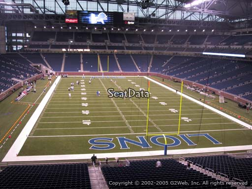 Seat view from section 217 at Ford Field, home of the Detroit Lions