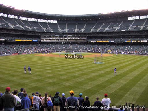 Seat view from section 102 at Safeco Field, home of the Seattle Mariners