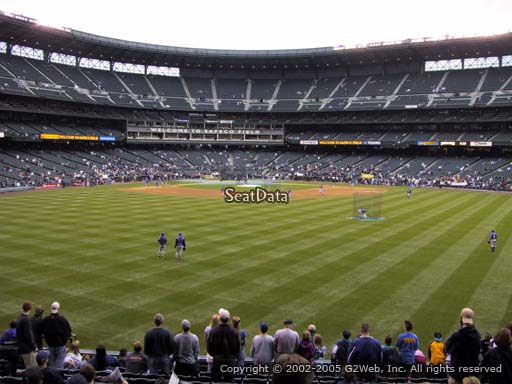 Seat view from section 103 at T-Mobile Park, home of the Seattle Mariners