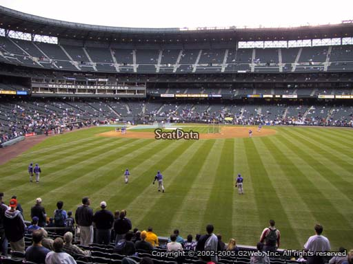 Seat view from section 107 at Safeco Field, home of the Seattle Mariners