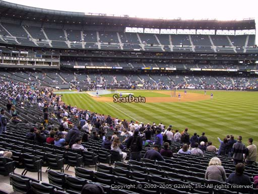 Seat view from section 111 at Safeco Field, home of the Seattle Mariners