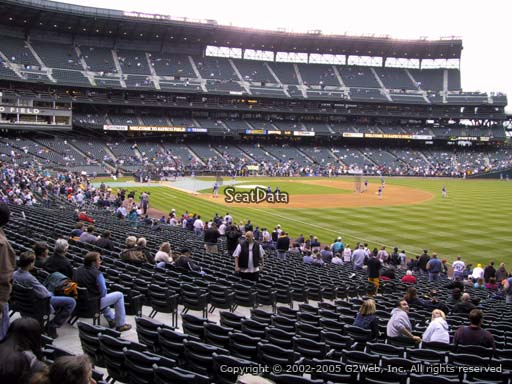 Seat view from section 114 at Safeco Field, home of the Seattle Mariners