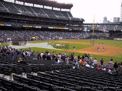Seat view from section 119 at Safeco Field, home of the Seattle Mariners