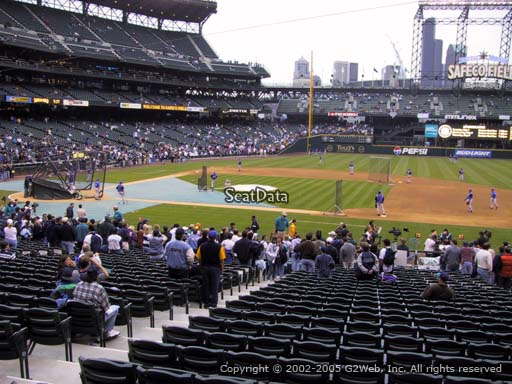 Seat view from section 121 at Safeco Field, home of the Seattle Mariners