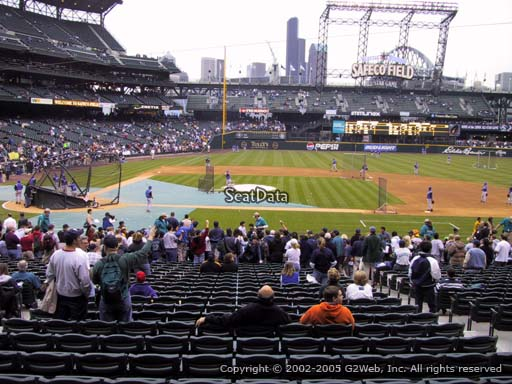 Seat view from section 123 at Safeco Field, home of the Seattle Mariners