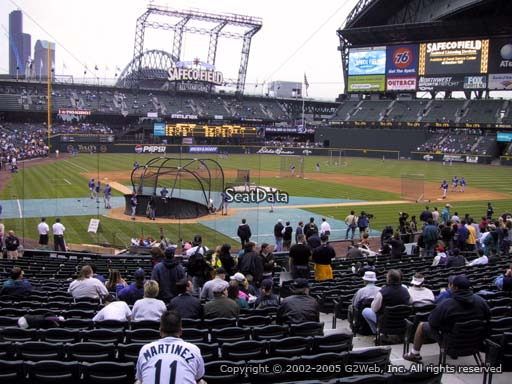 Seat view from section 127 at T-Mobile Park, home of the Seattle Mariners