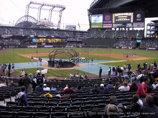 Seat view from section 128 at Safeco Field, home of the Seattle Mariners