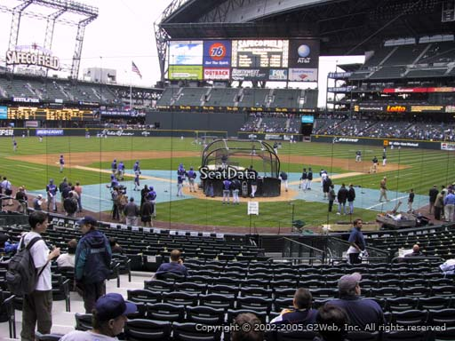 Seat view from section 131 at Safeco Field, home of the Seattle Mariners
