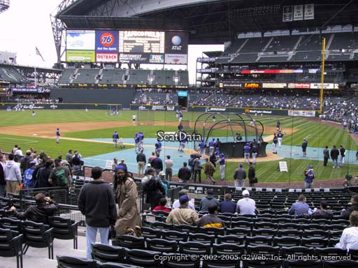 Seat view from section 133 at Safeco Field, home of the Seattle Mariners