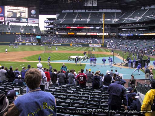 Seat view from section 136 at Safeco Field, home of the Seattle Mariners