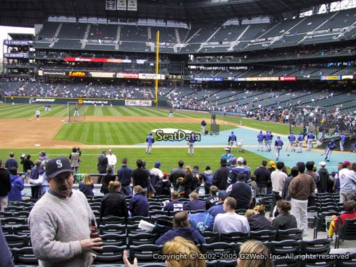 Seat view from section 138 at Safeco Field, home of the Seattle Mariners
