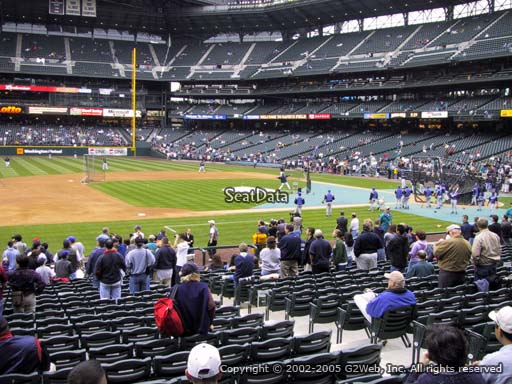 Seat view from section 140 at Safeco Field, home of the Seattle Mariners