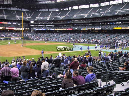 Seat view from section 141 at Safeco Field, home of the Seattle Mariners