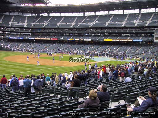 Seat view from section 144 at Safeco Field, home of the Seattle Mariners