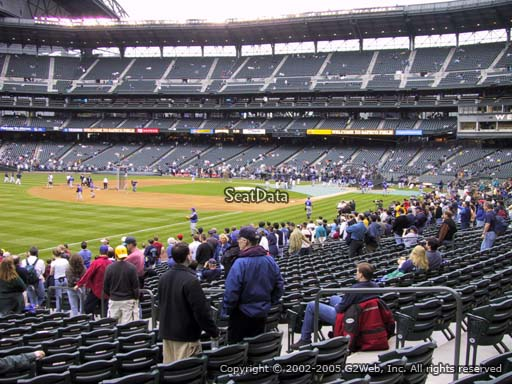Seat view from section 146 at Safeco Field, home of the Seattle Mariners