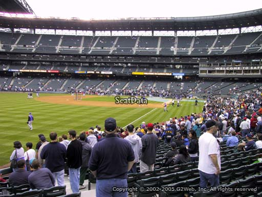 Seat view from section 149 at Safeco Field, home of the Seattle Mariners