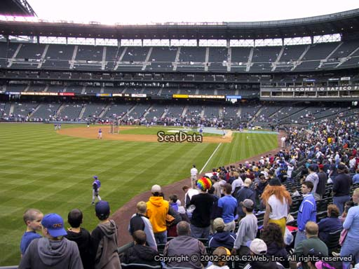 Seat view from section 150 at Safeco Field, home of the Seattle Mariners