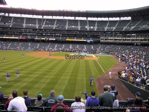 Seat view from section 151 at Safeco Field, home of the Seattle Mariners