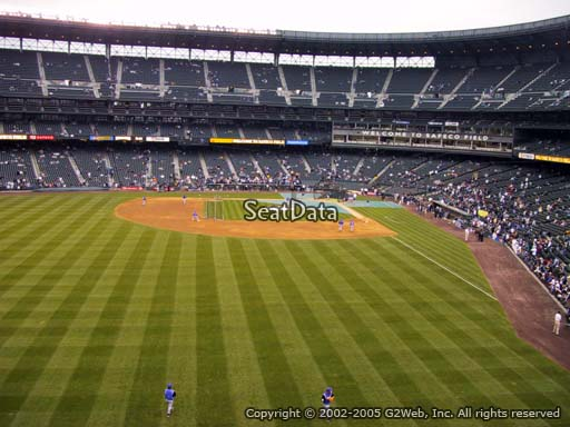 Seat view from section 183 at Safeco Field, home of the Seattle Mariners