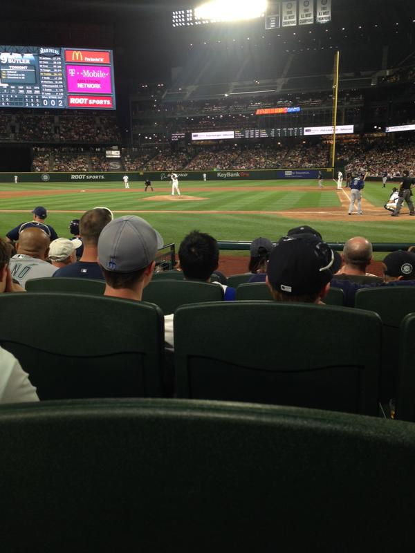 View from Diamond Club Section 35 at Safeco Field