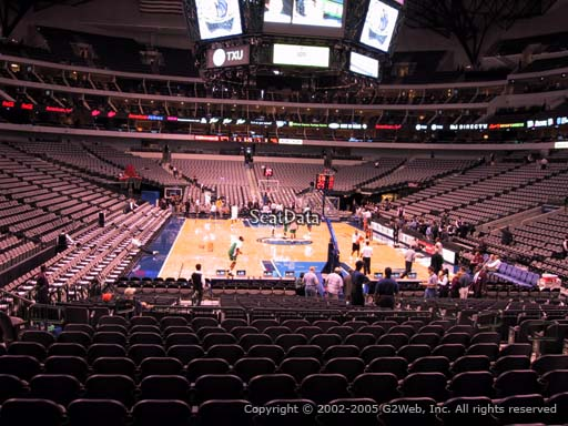 Seat view from section 101 at the American Airlines Center, home of the Dallas Mavericks