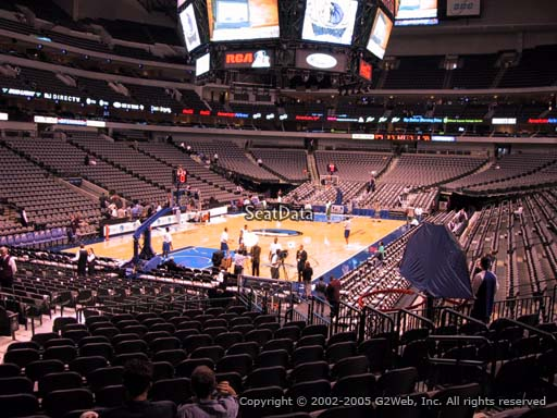 Seat view from section 111 at the American Airlines Center, home of the Dallas Mavericks