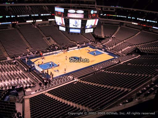 Seat view from section 313 at the American Airlines Center, home of the Dallas Mavericks