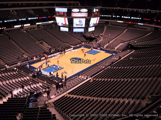 Seat view from section 314 at the American Airlines Center, home of the Dallas Mavericks
